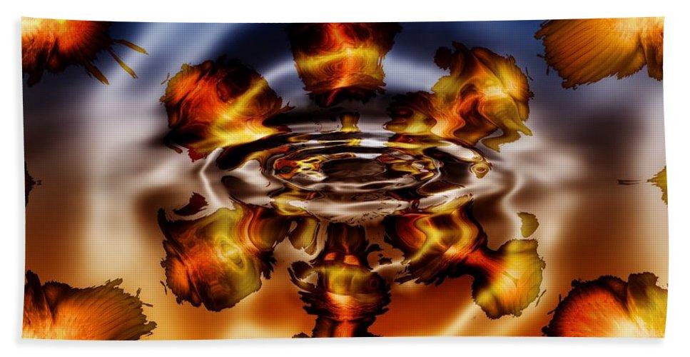 Gold Bath Sheet featuring the digital art A Piece Of My Soul by Robert Orinski