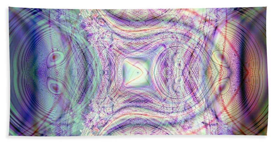 Fractal Bath Sheet featuring the digital art A Sign Of Life by Dominique Favre