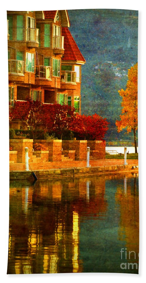 Tree Hand Towel featuring the photograph A Single Yellow Tree by Tara Turner