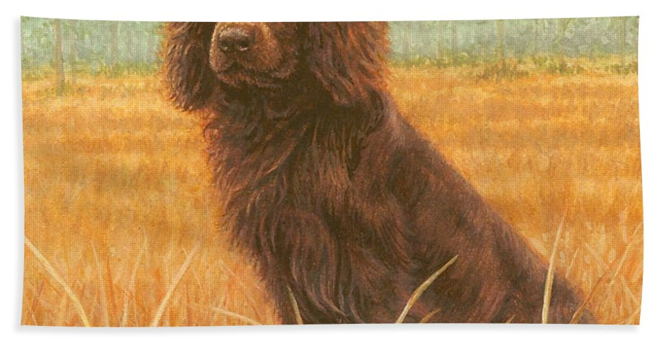 Dog Hand Towel featuring the painting A Southern L.b.d. by Rachelle Siegrist