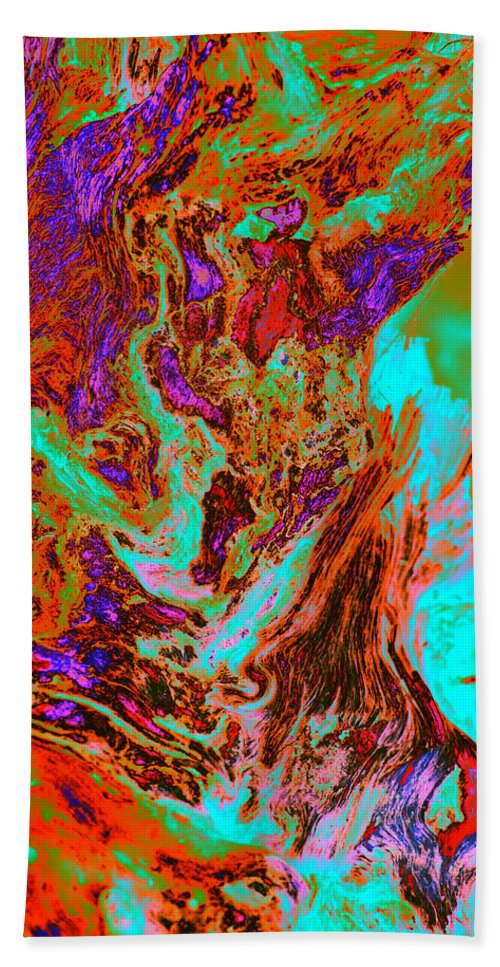 Weeds Hand Towel featuring the photograph A Splash Of Color In The Weeds by Richard Henne