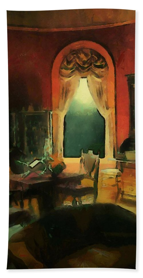 Room Bath Sheet featuring the painting A Study In Scarlet by RC DeWinter