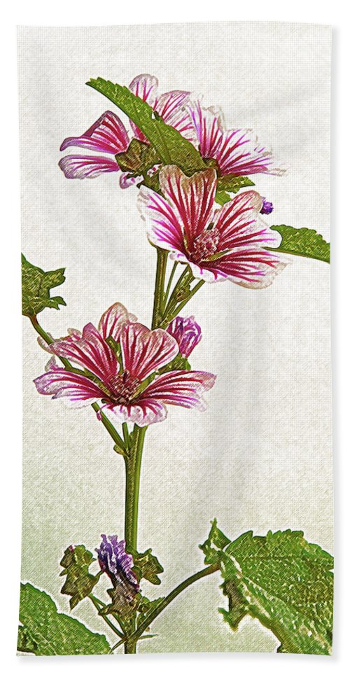 Flower Bath Sheet featuring the photograph A Summer Splash Of Color by Michael Peychich