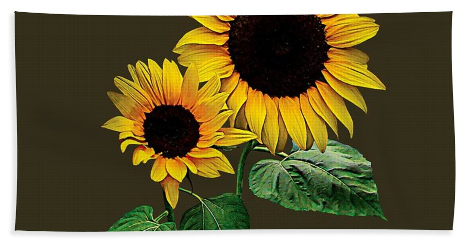 Sunflower Bath Towel featuring the photograph A Sunflower Mommy's by Susan Savad