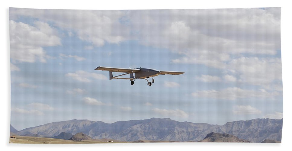 Drone Hand Towel featuring the photograph A Tiger Shark Unmanned Aerial Vehicle by Stocktrek Images