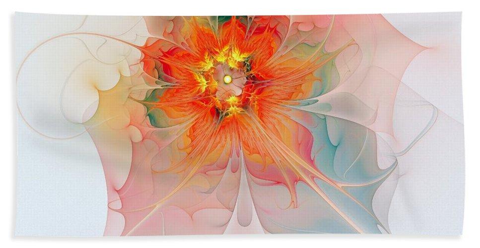 Digital Art Bath Towel featuring the digital art A Touch Of Spring by Amanda Moore