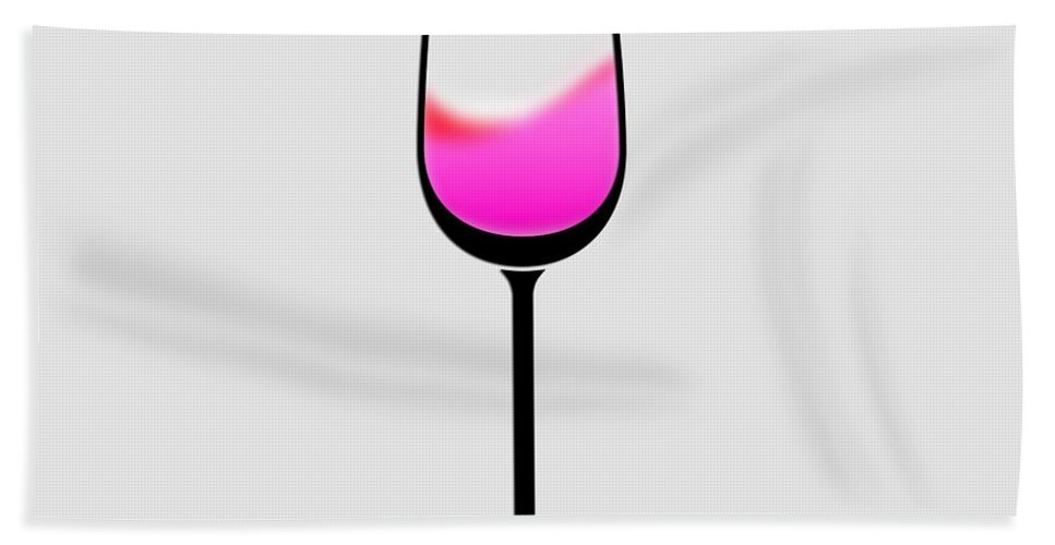 Photo Frames Hand Towel featuring the digital art A Touch Of Wine by CE Haynes