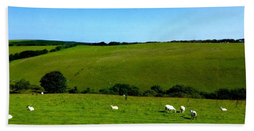 Exmoor Hand Towel featuring the photograph A View Over Exmoor 2 by Joan-Violet Stretch