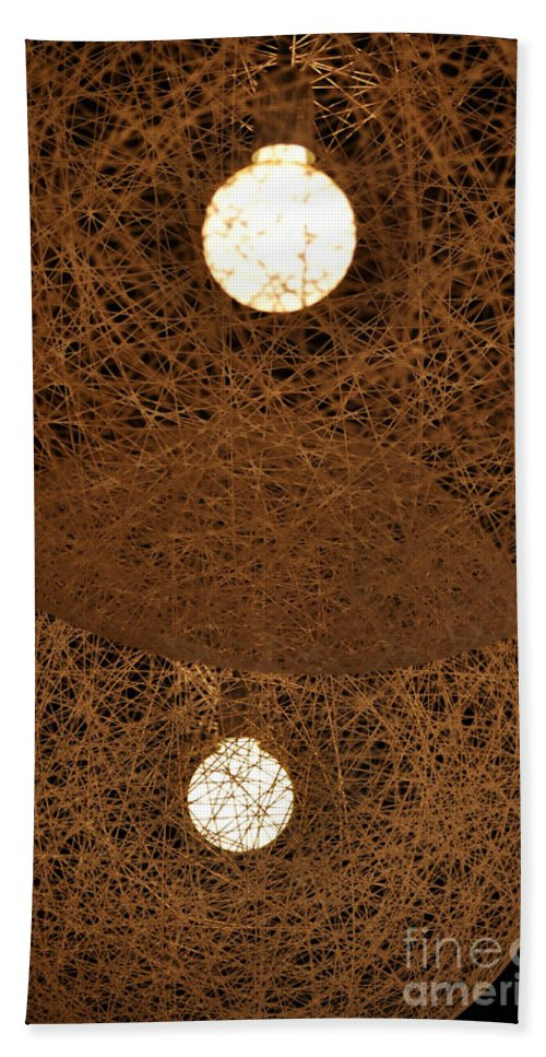 Clay Hand Towel featuring the photograph A Web Of Photons by Clayton Bruster