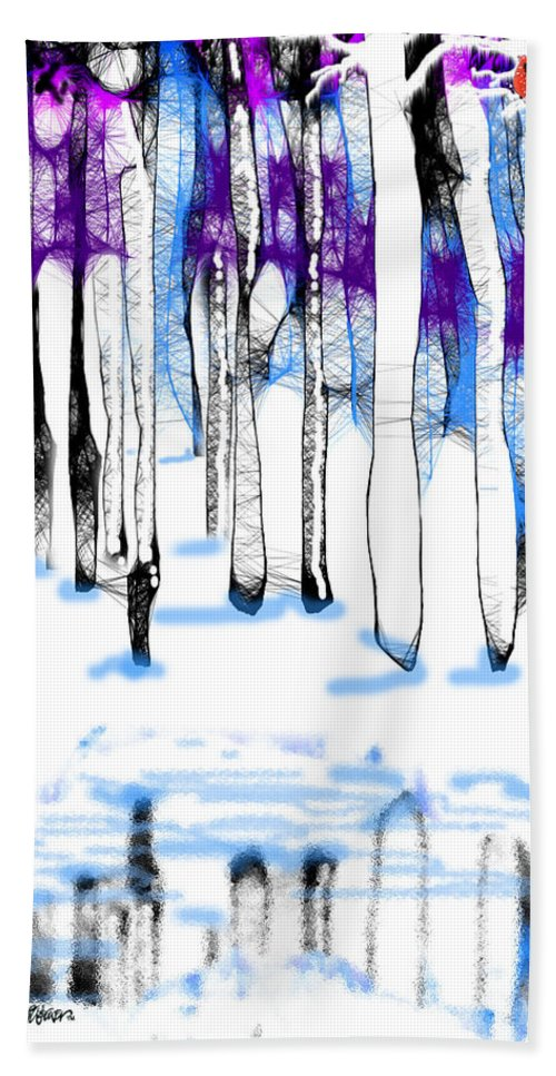 A Winters Day Bath Sheet featuring the digital art A Winters Day by Seth Weaver