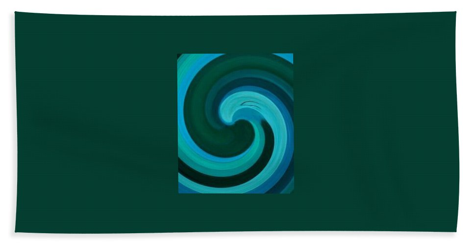 Continuious Bath Towel featuring the digital art A77 by Andrew Johnson