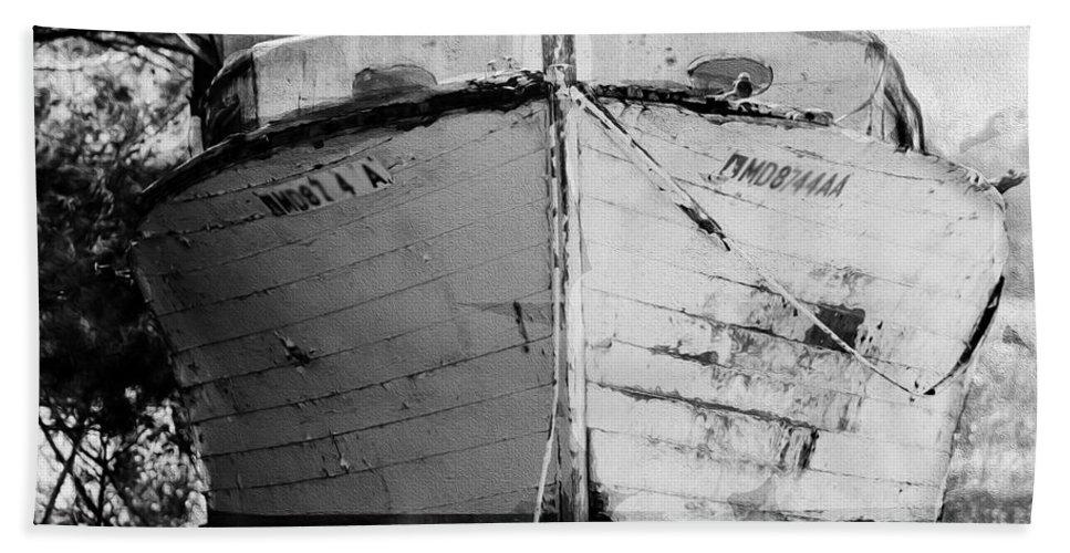 Boat Hand Towel featuring the photograph Aa Minnow by Karen Lambert
