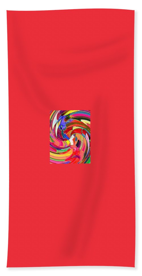 Digital Image Hand Towel featuring the digital art AB by Andrew Johnson