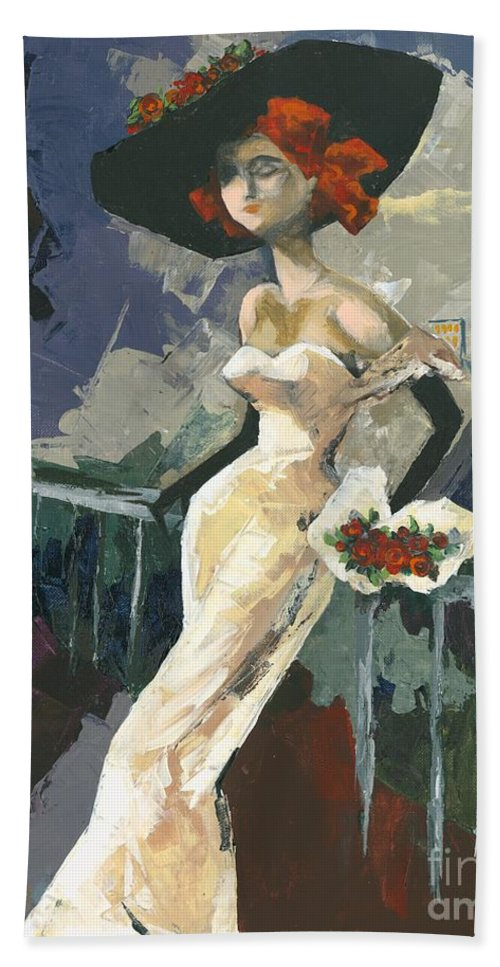 Acrylic Hand Towel featuring the painting Abandoned by Elisabeta Hermann