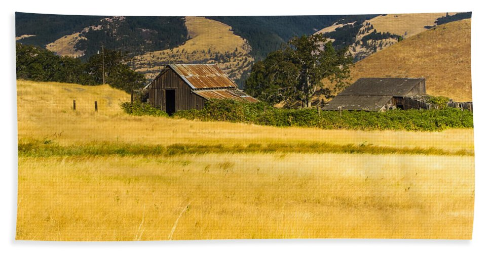 Agriculture Hand Towel featuring the photograph Abandoned Farm by John Trax