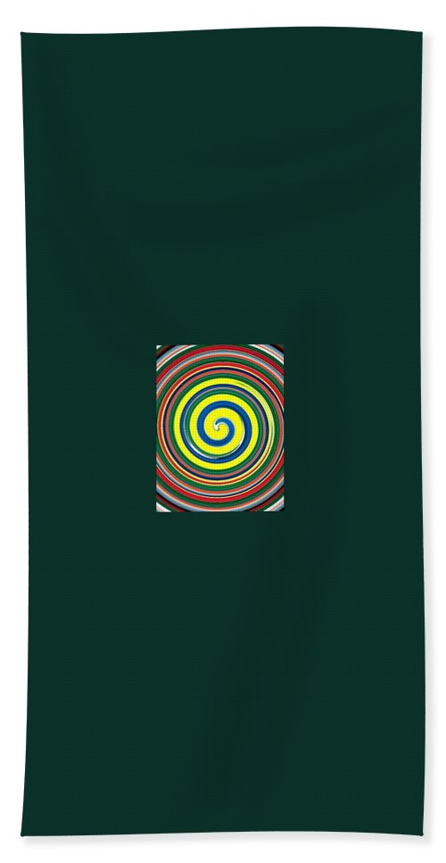 Digital Spiral Hand Towel featuring the painting Abb1 by Andrew Johnson