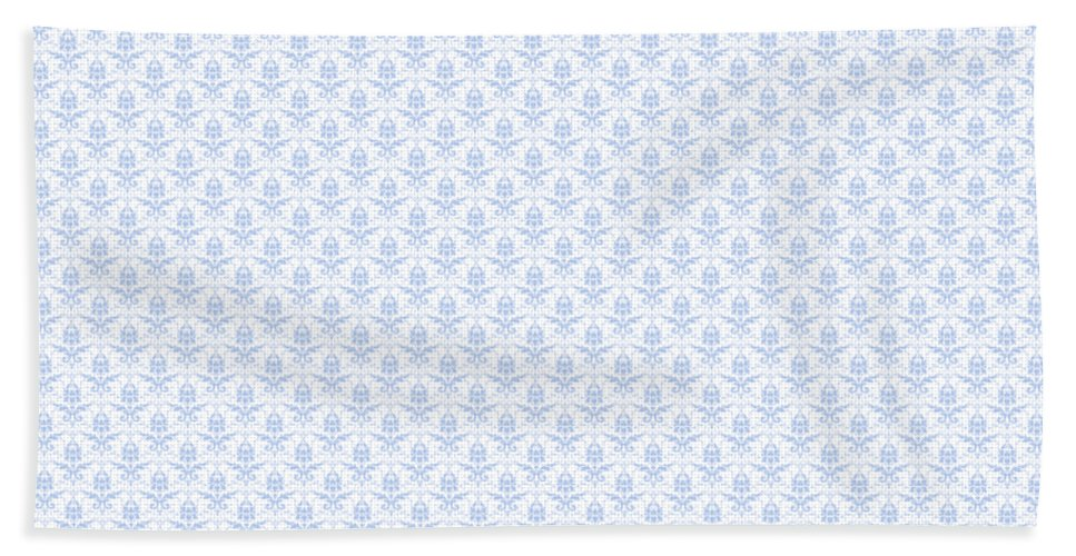 Damask Hand Towel featuring the digital art Abby Damask With A White Background 18-p0113 by Custom Home Fashions