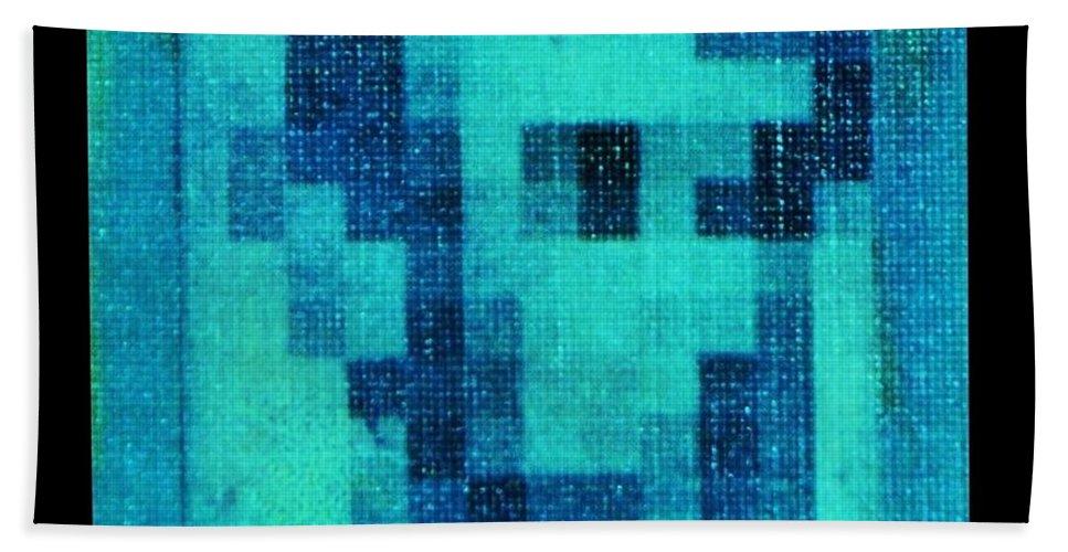 Blue Bath Towel featuring the photograph Abe In Aqua by Rob Hans