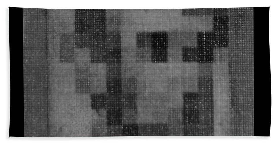 Black And White Hand Towel featuring the photograph Abe In Black And White by Rob Hans