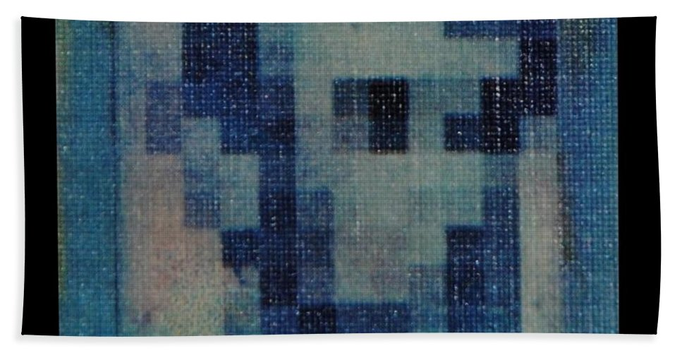 Blue Bath Towel featuring the photograph Abe In Light Blue by Rob Hans