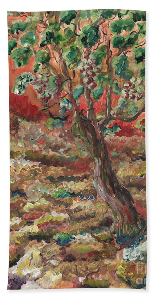 Abide Hand Towel featuring the painting Abide by Nadine Rippelmeyer