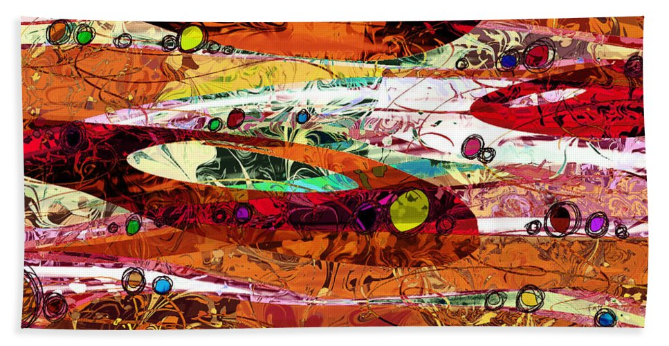 Abstract Bath Sheet featuring the digital art Abiding by Rachel Christine Nowicki