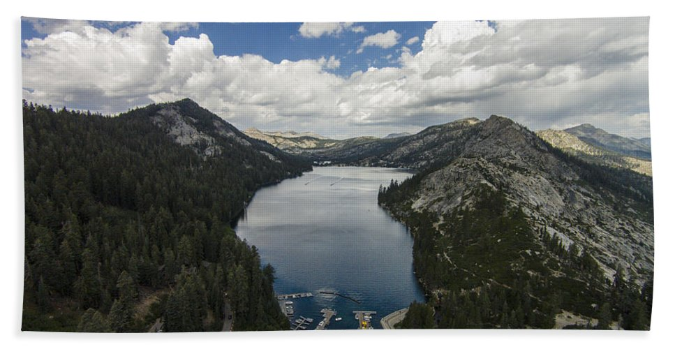 Above Bath Towel featuring the photograph Above Echo Lake by David Levy