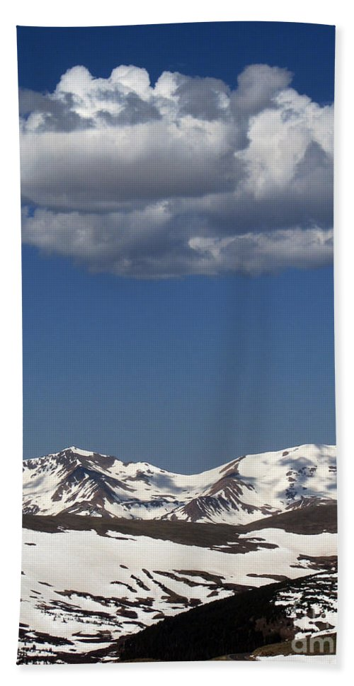 Colorado Bath Sheet featuring the photograph Above It All by Amanda Barcon
