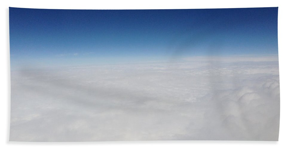 Deep Blue Sky Hand Towel featuring the photograph Above The Clouds by Amy Lionheart