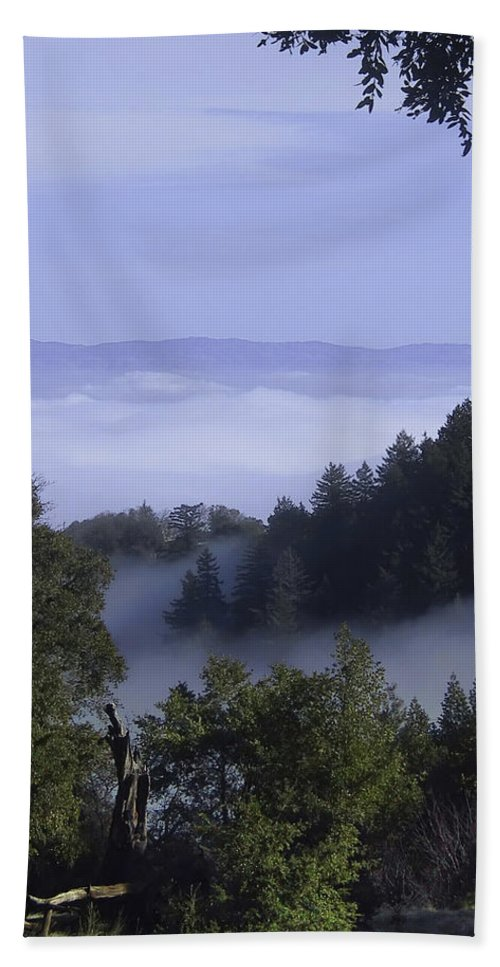 Lalndscape Bath Towel featuring the photograph Above The Clouds by Karen W Meyer
