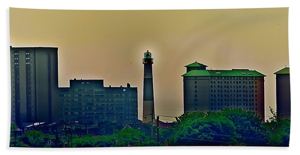 Atlantic City Bath Sheet featuring the photograph Absecon Lighthouse by Bill Cannon
