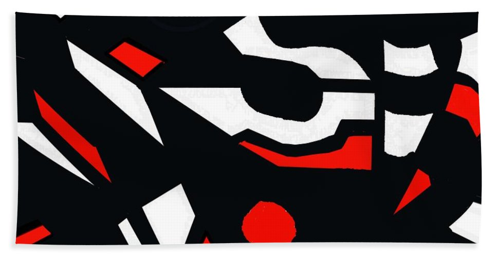 Abstract Hand Towel featuring the digital art Abstrac7-30-09 by David Lane