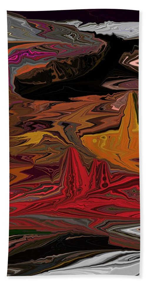 Fine Art Hand Towel featuring the digital art Abstract 011311 by David Lane