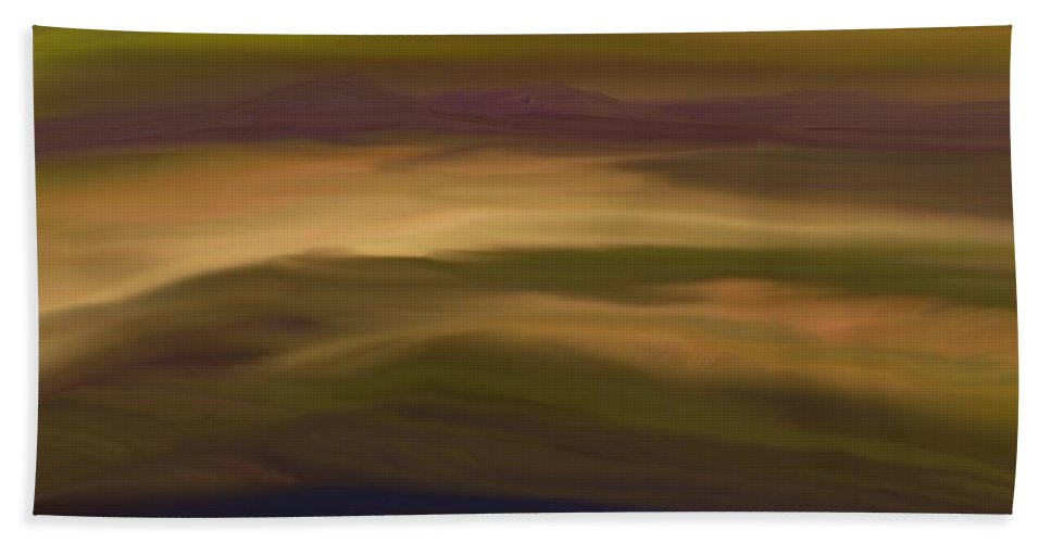 Fine Art Hand Towel featuring the digital art Abstract 013111 by David Lane
