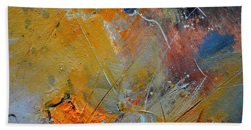 Abstract Bath Sheet featuring the painting Abstract 015011 by Pol Ledent