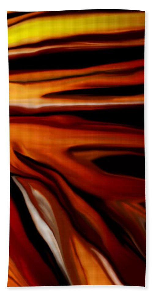 Digital Painting Hand Towel featuring the digital art Abstract 02-12-10 by David Lane