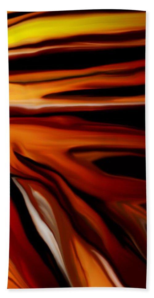 Digital Painting Bath Sheet featuring the digital art Abstract 02-12-10 by David Lane