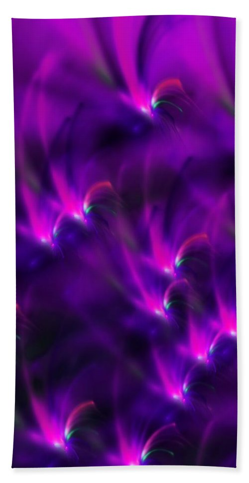 Abstract Hand Towel featuring the digital art Abstract 022611 by David Lane