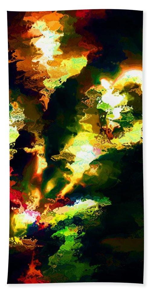 Fine Art Bath Sheet featuring the digital art Abstract 032311 by David Lane