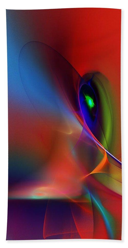 Fine Art Bath Towel featuring the digital art Abstract 042612A by David Lane