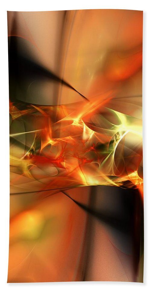 Digital Painting Bath Sheet featuring the digital art Abstract 060110a by David Lane