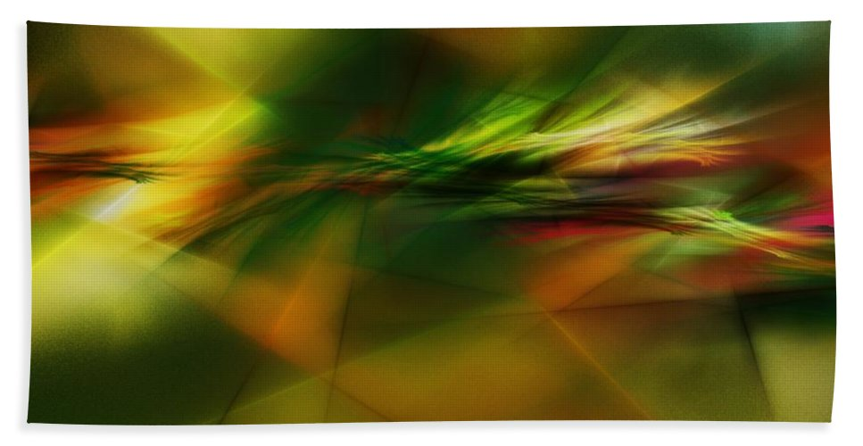 Digital Painting Bath Towel featuring the digital art Abstract 060210 by David Lane