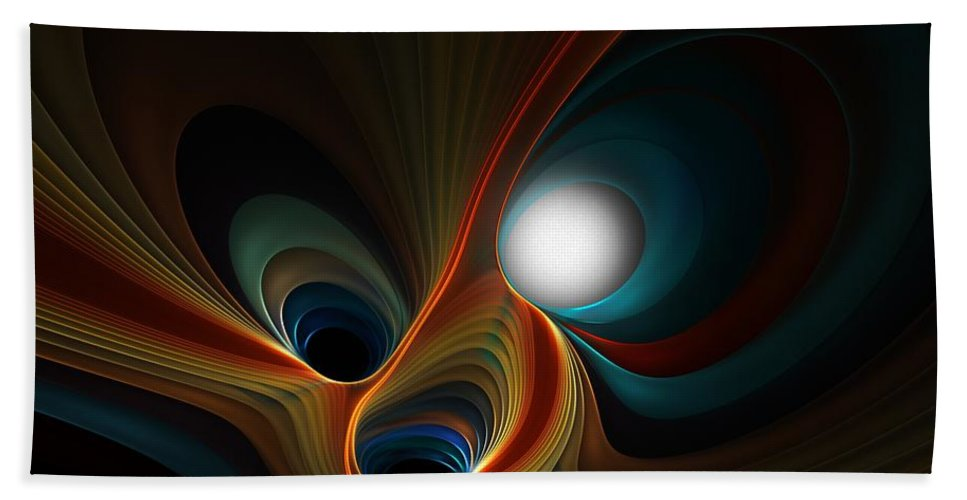 Digital Painting Bath Sheet featuring the digital art Abstract 060310c by David Lane