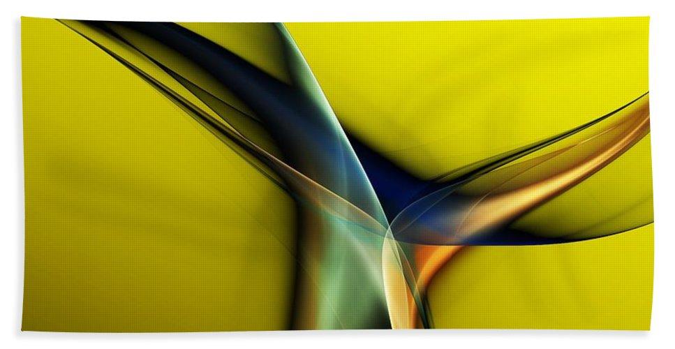 Fine Art Bath Towel featuring the digital art Abstract 060311 by David Lane