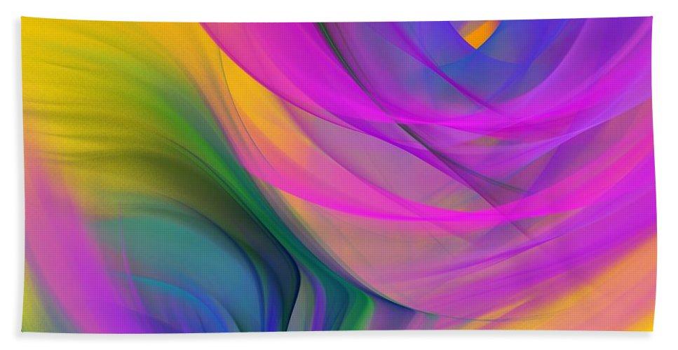 Fine Art Bath Sheet featuring the digital art Abstract 060611b by David Lane