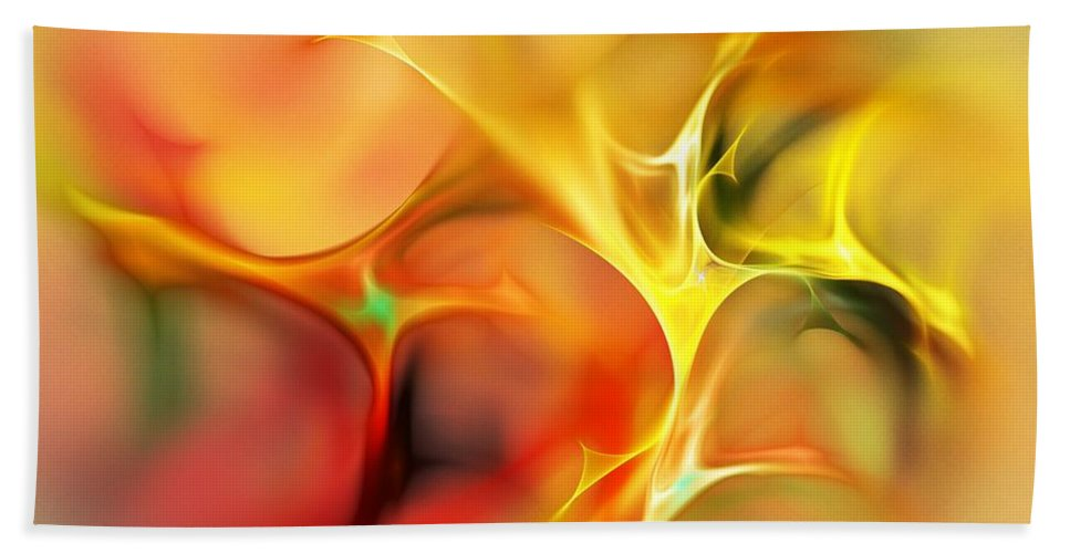 Abstract Hand Towel featuring the digital art Abstract 061410a by David Lane