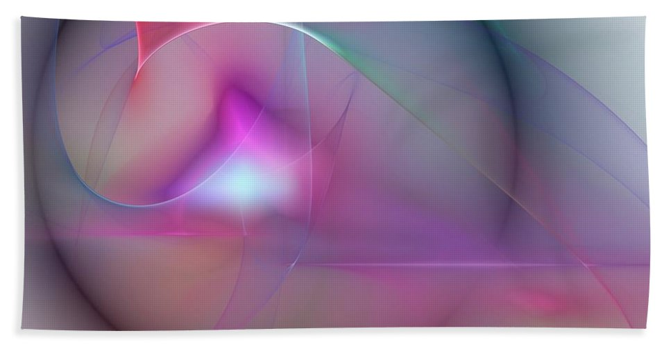 Expressionism Bath Sheet featuring the digital art Abstract 061910 by David Lane