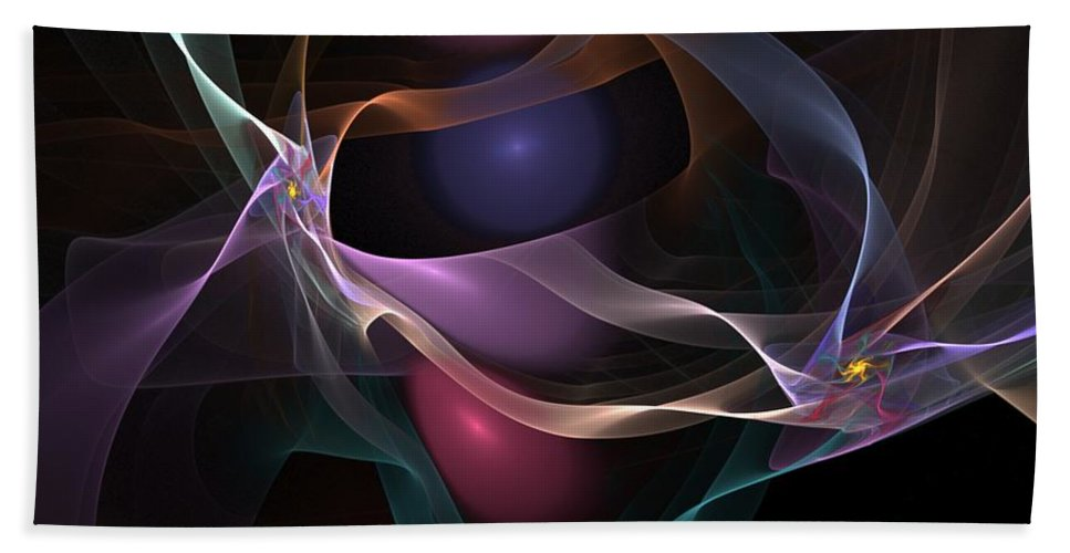 Fine Art Bath Towel featuring the digital art Abstract 062310 by David Lane