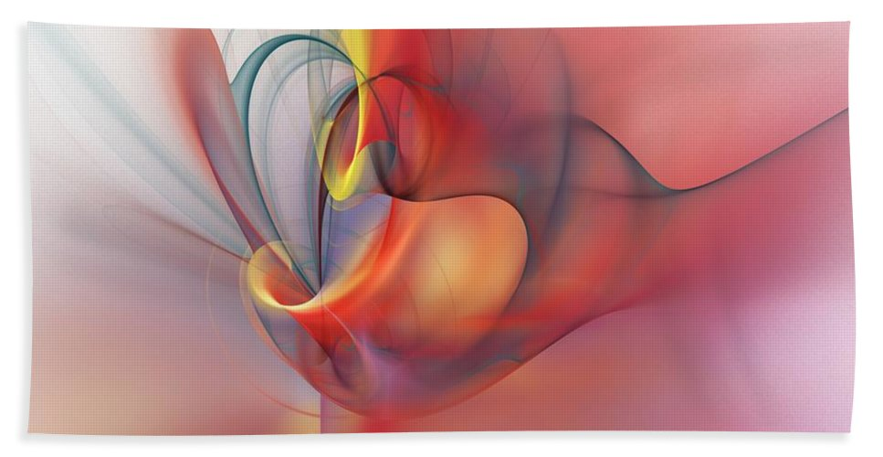 Abstract Hand Towel featuring the digital art Abstract 062910 by David Lane