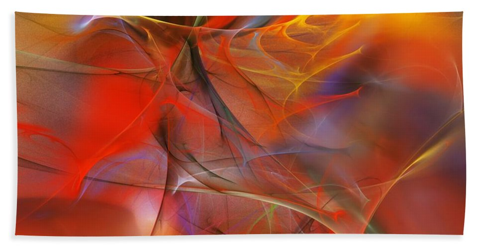Abstract Bath Sheet featuring the digital art Abstract 062910a by David Lane